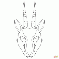 Gazelle Mask coloring page | Free Printable Coloring Pages