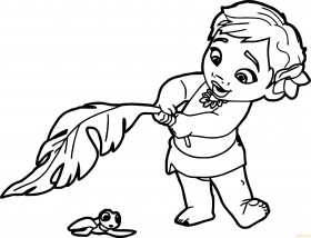 Baby Moana Coloring Page - Free Coloring Pages Online
