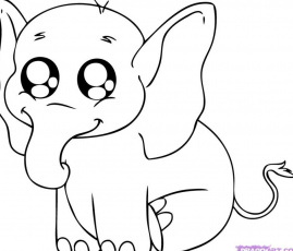 Cute Baby Pig Coloring Page