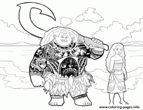 Print moana and maui coloring pages | Moana coloring pages, Disney ...