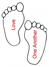 Footprints Coloring Page  Coloring Home