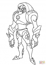 Ben 10 Water Hazard Coloring Pages Sketch Coloring Page