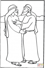 Jacob and Esau coloring page | Free Printable Coloring Pages