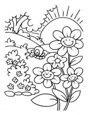Spring Season Colouring Pages Free For Kids Girls 20958