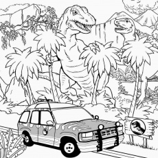 12 Pics of Jurassic Park Tyrannosaurus Rex Coloring Pages To Print ...