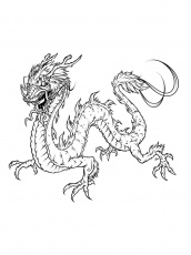 Chinese Dragon coloring pages. Free Printable Chinese Dragon coloring pages.
