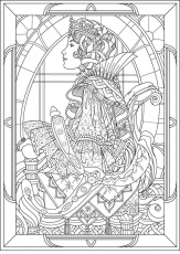 "Art nouveau"" - Coloring Pages for adults"