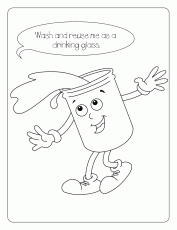 related coloring pages water conservation coloring page
