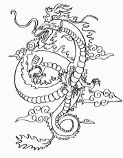 Chinese Dragon Coloring Pages Coloring Pages For Adults Coloring