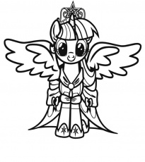 little pony coloring page