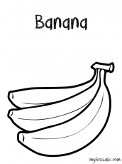 Banana Coloring Page - My First ABC
