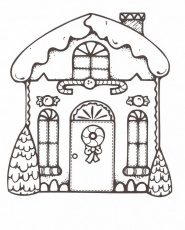 gingerbread house coloring pages | Kids - For little girls and boys |…