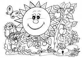 Spring - Coloring Pages for Kids and for Adults