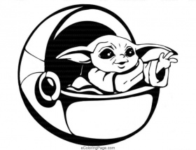 Star Wars Baby Yoda and Mandalorian Coloring Pages |