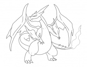 Charizard Mega Evolution Coloring Pages - High Quality Coloring Pages