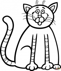 Cute Kitten coloring page | Free Printable Coloring Pages