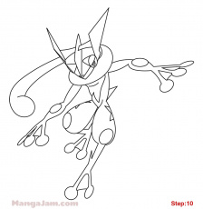 Pokemon Ash Greninja Coloring Pages