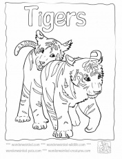 Baby Tiger Coloring Pages,Echo's Cute Tiger Coloring Pages For Kids