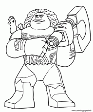 Lego Moana Disney Maui Coloring Pages Printable