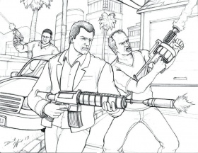 Grand Theft Auto Coloring Pages at GetDrawings.com | Free ...