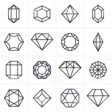 Jewel And Gem Icons And Symbols Stock Illustration - Download ...