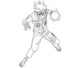 Kakashi Hatake 5 Coloring | Crafty Teenager