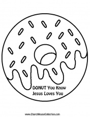 Donut Printable Template Black and White Clipart Image ...