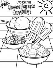 Healthy Eating Coloring Pages For Desserts : Coloring Sun