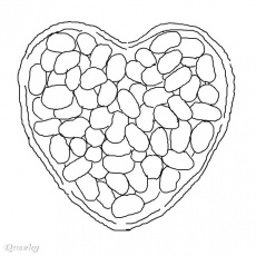 jelly beans coloring page