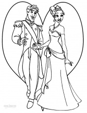 princess & prince coloring pages