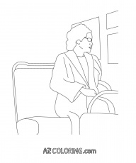 Rosa Parks Coloring Page Coloring Home Rosa Parks Coloring