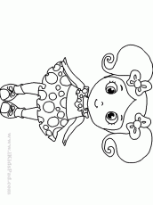 cute girl coloring pages to download and print for free - Baby Girl Coloring Pages Print