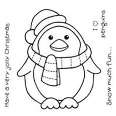 Christmas Penguin - Coloring Pages for Kids and for Adults