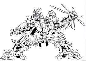 transformer coloring pages decepticon blackout Coloring4free -  Coloring4Free.com