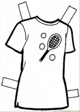 T Shirt Coloring Page - Free Clothing Coloring Pages : ColoringPages101.com