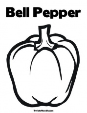 Bell Pepper | Stuffed green peppers, Fruit coloring pages, Vegetable coloring  pages