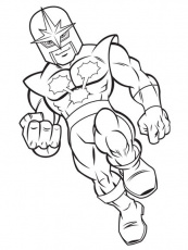 Draw Super Hero Squad Characters Sketch Coloring Page (With images ...