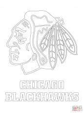 chicago blackhawks logo coloring page free printable coloring pages - Chicago Blackhawks Coloring Pages