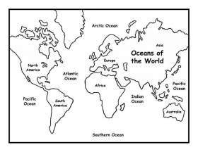 Oceans of the World Coloring Page -- Exploring Nature Educational