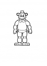 Coloring Book : Five Nights At Freddy Coloring Pages Simple ...