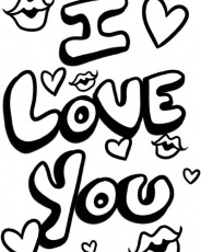 Free i love you mom coloring page - Pipress.net