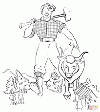 Paul Bunyan Coloring Page - Coloring Home