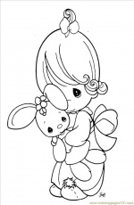 free printable coloring image Precious Moments 1 (6) | Digi Stamps ...