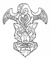 12 Pics of Wolf Totem Pole Coloring Page - Saxman Native Totem ...