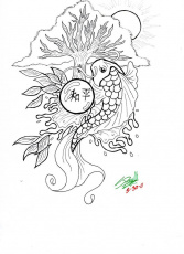 Koi Fish Coloring PagesFree Coloring Pages For Kids | Free ...