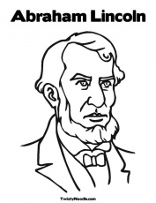 A Kids Drawing Of Abraham Lincoln Coloring Page Free Printable