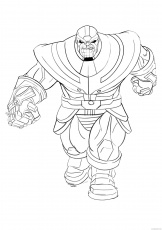 Thanos Coloring Pages Cartoons Thanos Supervillain Printable 2020 6369  Coloring4free - Coloring4Free.com