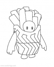Fall Guys Coloring Pages French Fries ...xcolorings.com