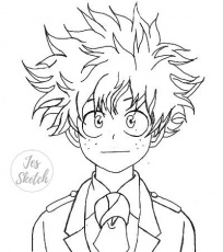 Smiling Deku Lineart Coloring Page by JesSketch0 on DeviantArt