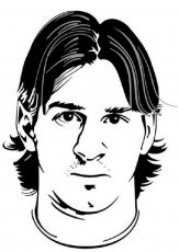 Soccer Coloring Pages Lionel Messi Picture 3 – Handsome face ...